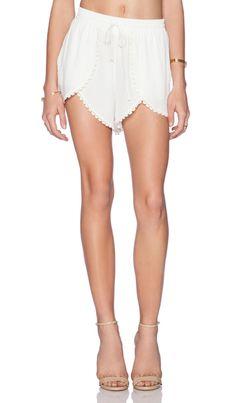Lovers + Friends Lovers + Friends Mariposa Shorts in Ivory