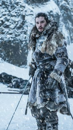 """Kit Harington as Jon Snow in Game of Thrones ""Beyond the Wall"" "" Game Of Thrones Episodes, Game Of Thrones Quotes, Game Of Thrones Funny, Got Serie, Film Serie, Kit Harington, Winter Is Here, Winter Is Coming, Jon Schnee"