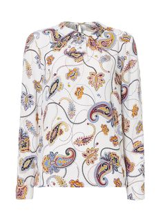 Womens Multicoloured Printed Collar Blouse | Tu clothing