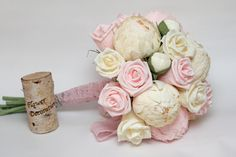 wedding bouquet paper flower bouquet by FlowerDecoration on Etsy, $75.00
