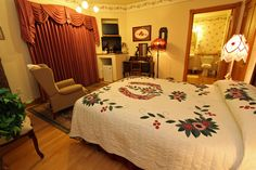 Combine the Best View Of Any B&B in Lancaster County PA with a Victorian style mansion - then you must be at the Hurst House Bed and Breakfast Lancaster PA!