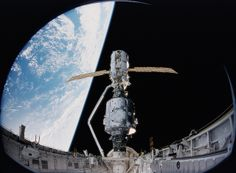 First Assembly Step: Zarya jointed to Unity (Archive: NASA, International Space Station, 11/21/13) by NASA's Marshall Space Flight Center, v...
