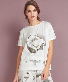 Camiseta ballenas polares - OYSHO