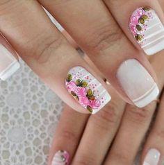 Cute Acrylic Nails, Finger, Nail Designs, Hair Beauty, Nail Art, Easy Nails, White Nail Beds, Nail Art Designs, Nail Arts