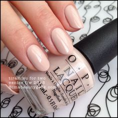 OPI Tiramisu for Two – OPI Venice Collection 2015. There's a buttload of OPI Venice 2015 swatches at imabeautygeek.com