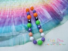 Colors of Halloween Chunky Bead Necklace by LittleDivaBubblegum, $22.00