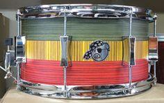 """Pork Pie Custom Rasta 13x7"""" Brand New Snare!"""