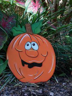 Halloween Jack-o-lantern Pumpkin, Welcome Fall Yard Art READY TO SHIP!