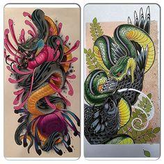 Resultado de imagen para japanese tattoo snake