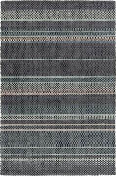 Evora Hand-Woven Black/Gray Area Rug