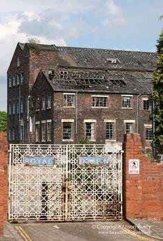 Remains of the Royal Doulton factory, Nile Street, Burslem, Stoke-on-Trent, Staffordshire
