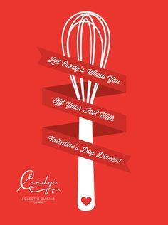 Valentine's Day poster design. #design #valentinesday #marketing