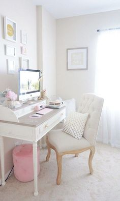 30 Exciting Diy Home Office Desk Ideas Home Office Space, Home Office Desks, Office Decor, Office Inspo, Office Ideas, Modular Home Office Furniture, Feminine Home Offices, Trendy Home, Home Decor Inspiration