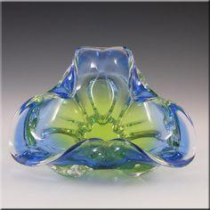 Chribska Czech Green/Blue Glass Bowl by Josef Hospodka - £29.99