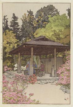 Azalea Garden | Yoshida Hiroshi, (Japanese, 1876 - 1950) Showa era via @Freer|Sackler