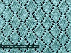 Openwork Diamonds Lace Knit Stitch
