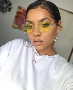 These sunglasses will rock your wardrobe. New old stock. UV Protection NOS deadstock Made n Sunglasses For Your Face Shape, Pink Sunglasses, Sunnies, Hexagon Sunglasses, Versace, Ray Bans, Colorful Frames, Gucci, Chanel