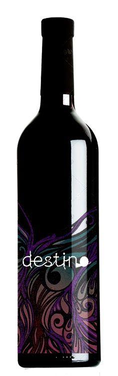 wine label design. beautiful label for a delicious wine :)