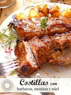 Pork Recipes, Mexican Food Recipes, Chicken Recipes, Cooking Recipes, Healthy Recipes, Baked Pork Ribs, Guatemalan Recipes, Guatemalan Food, My Favorite Food