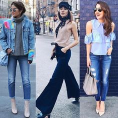 Джинсовые тренды этого сезона в фотографиях джет сеттеров: укороченные джинсы с необработанным низом, клеш и рваные бойфренды. Все – 7 For All Mankind. Примерить на себя эти силуэты вы сможете в JiST.