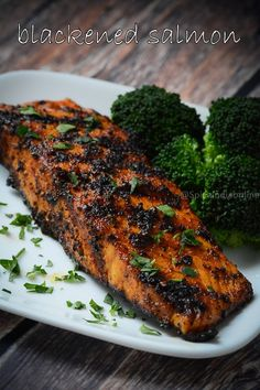 Salmon Recipes 446419381811831528 - Blackened Salmon Fillets Source by spiceindia Grilled Salmon Recipes, Fish Recipes, Seafood Recipes, Cooking Recipes, Healthy Recipes, Tilapia Recipes, Grilled Fish, Salmon Recepies, Vegetarian Recipes