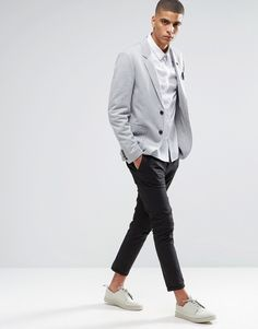 Image 4 of Selected Homme Blazer In Gray