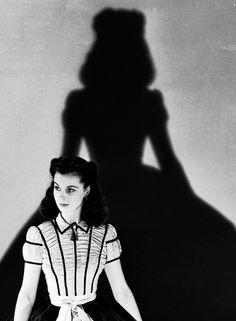 Scarlett O'Hara. With shadow. Gone With the Wind.