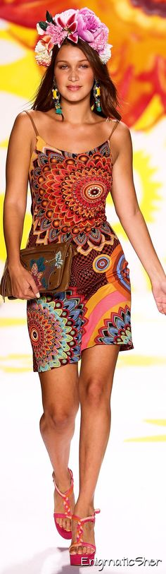 I normally wouldnt, but i think i would! Desigual Spring Summer 2015 Ready-To-Wear