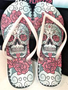 Skull flip flops on Behance