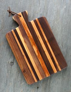 Small Kindling Serving Cutting Board  by KettlerWoodworks in northern Vermont. Made from reclaimed wood scraps.