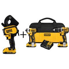 DEWALT 20-Volt MAX Lithium-Ion Cordless Cable Cutting Tool Kit with 20-Volt XR Brushless Combo Kit