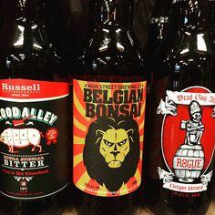 Drink good beer with good friends :) @russell_beer Blood Alley Bitter, @mainstreetbeer Belgian Bonsai IPA and @rogueales Dead Guy Ale #craft #craftbeer #beerporn #beerlove