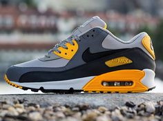 Nike Air Max 90 Essential - Pale Grey - Black - Anthracite - Orange - SneakerNews.com