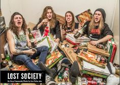 On this month's issue you'll find Lost Society interview