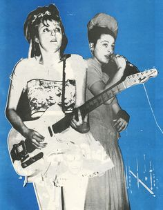 Viv and Ari of The Slits at the University of London 18/1/1980. From The Poser fanzine, issue #5 (1980).