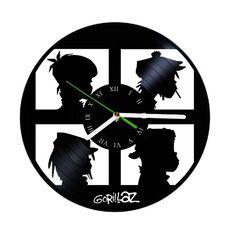 gorillaz poster music vinyl clock by puffpuffdesign on Etsy