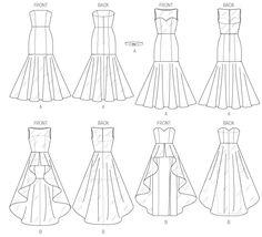 M6838 | Misses' Dress | Evening/Prom | McCall's Patterns #fallintofashion14 #mccallpatterncompany