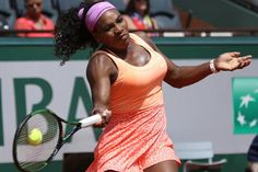 American Serena Williams hits a shot during her French Open women's quarterfinal match against Sara Errani of Italy at Roland Garros in Paris on June 3, 2015. Williams defeated Errani 6-1, 6-3 to advance to the next round. Photo by David Silpa/UPI