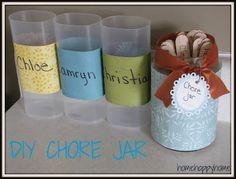 home happy home diy chore jar