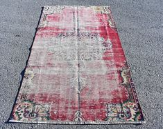 Turkish rug Oushak rug Vintage rug Turkey rug by turkishrugstar Bohemian Rug, Boho Decor, Rustic Decor, Rustic Rugs, Orange Rugs, Aztec Rug, Black Rug, Rugs In Living Room, Vintage Rugs
