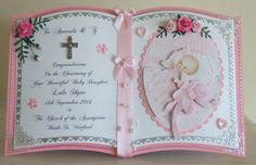 Close up of Christening Card