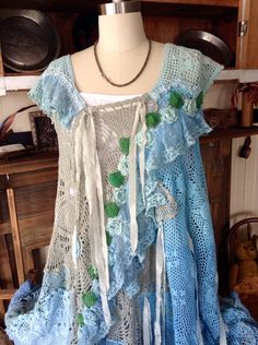 SALELuv Lucy Crochet Dress Mermaids Garden boho gypsy