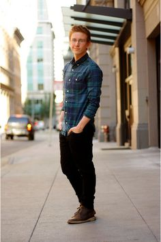 I just love Tyler Oakley okay he is hilarious and cute and I just love him. Tyler Oakley, Denim Button Up, Button Up Shirts, Bae, Miranda Sings, Fangirl Problems, Joey Graceffa, Club Monaco, Brown Boots