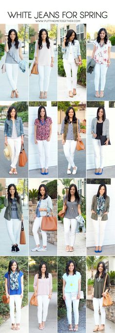 16 Outfits With White Jeans + Tips for Wearing White Jeans