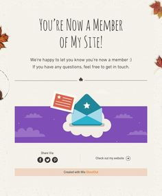 You're Now a Member  of My Site!