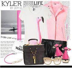 """Neon Kyler"" by julietav ❤ liked on Polyvore"