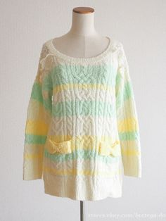 LIZ LISA See-through Lace Sweater Dress Hime gyaru Lolita Japan Size0 #LizLisa #Crewneck