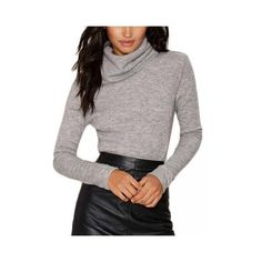 Women Turtleneck Long Sleeve T-Shirts ($8.30) ❤ liked on Polyvore featuring tops, t-shirts, grey, grey turtleneck, collared t shirt, turtleneck tee, long sleeve t shirt and long sleeve turtleneck