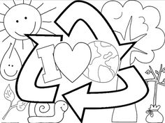 Earth Day coloring sheet FREEBIE