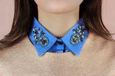 Collare rimovibile in jeans e paillettes / accessori dannosi bavaglino